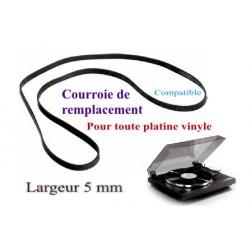 Courroie plate 5mm pour platine vinyle