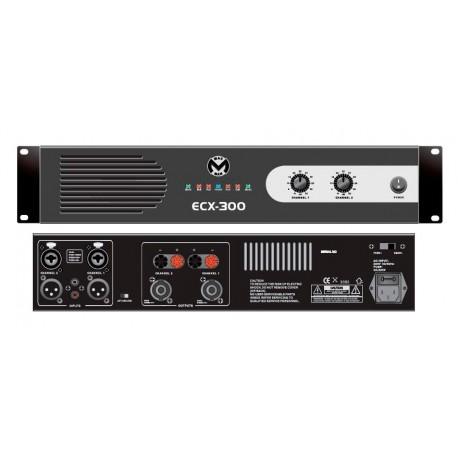 ECX300 AMPLI 2X300W/4 2U MAC MAH