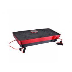 Plateau vibrant Fitness Body Magnetic Therapy + avec musique 73cm (Noir-Rouge)